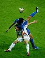 Jul 9, 2006; Berlin, GERMANY; Italy defender (3) Fabio Grosso falls on France midfielder (22) Frank Ribery during second half play in the final of the 2006 FIFA World Cup at the Olympiastadion, Berlin. Italy defeated France 5-3 on penalty kicks following a 1-1 draw after extra time to win the World Cup. Mandatory Credit: Ron Scheffler-US PRESSWIRE Copyright © Ron Scheffler.