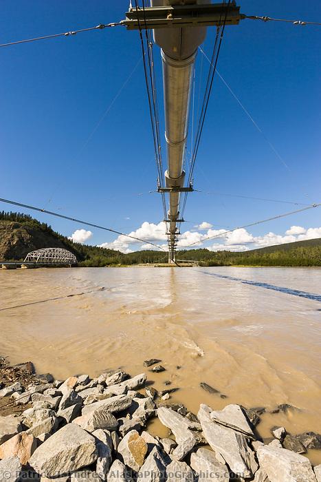 The Trans Alaska Pipeline crosses the Tanana River via a suspension bridge 1,299 ft. in length, which makes it the second longest pipeline bridge in Alaska.