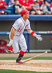 13 March 2016: Washington Nationals first baseman Ryan Zimmerman in action during a pre-season Spring Training game against the St. Louis Cardinals at Space Coast Stadium in Viera, Florida. The teams played to a 4-4 draw in Grapefruit League play. Mandatory Credit: Ed Wolfstein Photo *** RAW (NEF) Image File Available ***