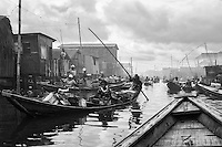 One of Makoko's main canals in the morning.