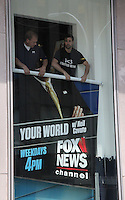 NEW YORK, NY - JULY 6:  FOX News personnel removing the poster of Gretchen Carlson at FOX News headquarters and rearranging existing posters following the announcement of Carlson's lawsuit against FOX News CEO Roger Ailes for sexual harassment  in New York, New York on July 6, 2016.  Photo Credit: Rainmaker Photo/MediaPunch