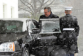 Former Florida Governor Jeb Bush departs the West Wing of the White House after he and his father, former United States President George H.W. Bush met with U.S. President Barack Obama in Washington, D.C. on Saturday, January 30, 2010. .Credit: Alexis C. Glenn / Pool via CNP
