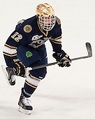Sam Herr (ND - 12) - The visiting University of Notre Dame Fighting Irish defeated the Boston College Eagles 2-1 in overtime on Saturday, March 1, 2014, at Kelley Rink in Conte Forum in Chestnut Hill, Massachusetts.