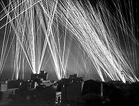 Ack-Ack fire during an air raid on Algiers, by the Nazis.  1943. Lt. W. R. Wilson.  (Army)<br /> Exact Date Shot Unknown<br /> NARA FILE #:  111-SC-182245<br /> WAR &amp; CONFLICT BOOK #:  1018