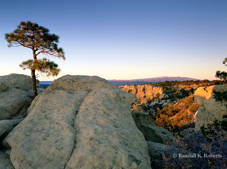 Mount Taylor and Sandstone Bluffs, El Malpais National Monument, New Mexico