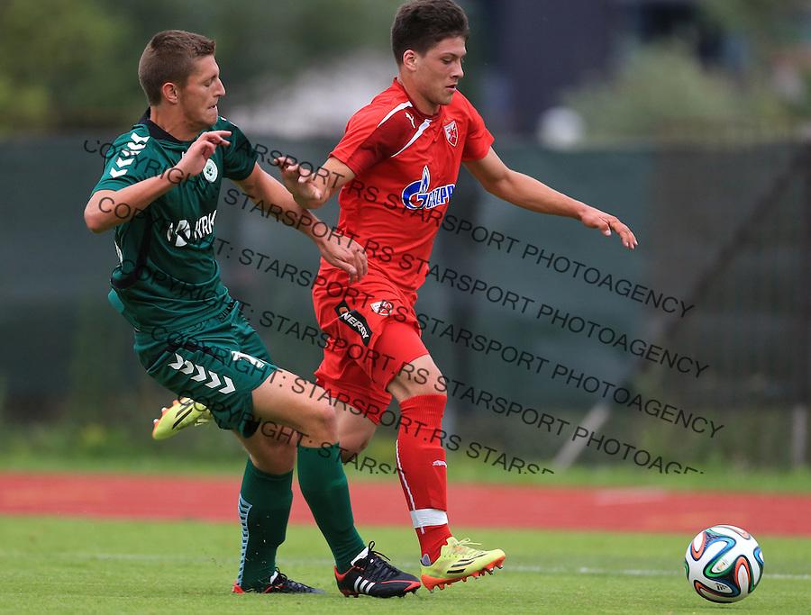 Fudbal season 2013-2014<br /> FK Crvena Zvezda pripreme<br /> Crvena Zvezda v Krka<br /> Luka Jovic (R)<br /> Novo Mesto, 07.12.2014.<br /> foto: Srdjan Stevanovic/Starsportphoto &copy;