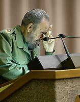 Fidel Castro pictured on June 4, 2005. Credit: Jorge Rey/MediaPunch