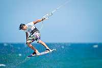 The last leg of the 2010 PKRA World Kiteboarding Tour has come to the Gold Coast, Australia - Marc Jacobs in action in a round of the single elimination freestyle.