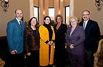 WATERBURY,  CT-032217JS10 --Gary Steck, CEO of Wellmore Behavioral Health; Kathi Crowe, Executive Director of Waterbury Youth Services; Sara Carabetta of Acts 4 Ministries; Kelly Cronin Founder of Kelly's Kids; Ellen Lynch, Principal at Children's Community School in Waterbury and Lee Schlesinger, Executive Director of Safe Haven of Greater Waterbury,   at the Exchange Club of Waterbury's Dr. Lawrence J. Shea Memorial Awards Banquet Wednesday at LaBella Vista in Waterbury. Jim Shannon Republican-American