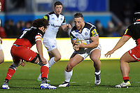 Max Lahiff of Bath Rugby in possession. Aviva Premiership match, between Saracens and Bath Rugby on January 30, 2016 at Allianz Park in London, England. Photo by: Patrick Khachfe / Onside Images