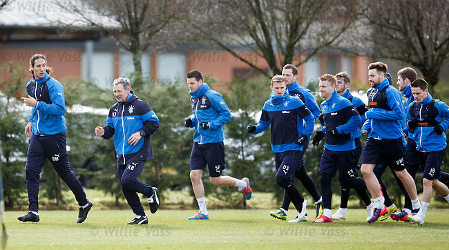 Belil Mohsni and Kenny Black leading the team around