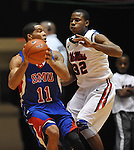 SMU's London Giles (11) works against Mississippi's Jarvis Summers(32) at the C.M. &quot;Tad&quot; Smith Coliseum in Oxford, Miss. on Tuesday, January 3, 2012. (AP Photo/Oxford Eagle, Bruce Newman)