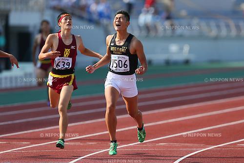 Daisuke Funato, JULY 29, 2015 - Athletics : 2015 All-Japan Inter High School Championships, Men's 400m Final at Kimiidera Athletic Stadium, Wakayama, Japan. (Photo by YUTAKA/AFLO SPORT)