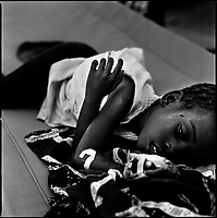 Luanda, Angola, May 26, 2006.Domingo Nambi, 7, is a patient at the Cacuaco MSF Belgium operated cholera field clinic. Between February and June 2006, more than 30000 people were infected with cholera in Angola's worse outbreak ever; more than 1300 died.