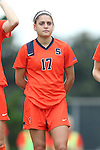 17 October 2013: Syracuse's Alexis Koval. The University of North Carolina Tar Heels hosted the Syracuse University Orangemen at Fetzer Field in Chapel Hill, NC in a 2013 NCAA Division I Women's Soccer match. UNC won the game 1-0.