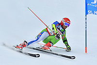 February 17, 2017: Miha HROBAT (SLO) competing in the men's giant slalom event at the FIS Alpine World Ski Championships at St Moritz, Switzerland. Photo Sydney Low