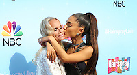 UNIVERSAL CITY, CA - NOVEMBER 16: Ariana Grande, Kristin Chenoweth attends the press junket for NBC's 'Hairspray Live!' at the NBC Universal Lot on November 16, 2016 in Universal City, California (Credit: Parisa Afsahi/MediaPunch).