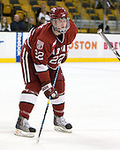 David Valek (Harvard - 22) - The Northeastern University Huskies defeated the Harvard University Crimson 4-1 (EN) on Monday, February 8, 2010, at the TD Garden in Boston, Massachusetts, in the 2010 Beanpot consolation game.