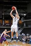 24 MAR 2012:  Richard Woodworth (14) of Western Washington University takes a shot against the University of Montevallo during the Division II Men's Basketball Championship held at the Bank of Kentucky Center in Highland Heights, KY. Western Washington won the national title 72-65.  Joe Robbins/NCAA Photos