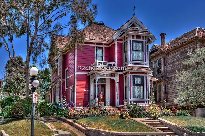 Innes House (Charmed TV House) Caroll Ave., Angelino Heights, Victorian, Echo Park district, Los Angeles, California, Los Angeles, California High dynamic range imaging (HDRI or HDR)