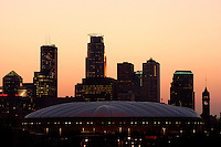 Early Dusk view of Minneapolis as a skyline