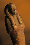 Shabti of Tjuya, KV 46; Gold; Valley of the Kings; reign of Amenhotep III,Tutankhamun and the Golden Age of the Pharaohs, Page 132