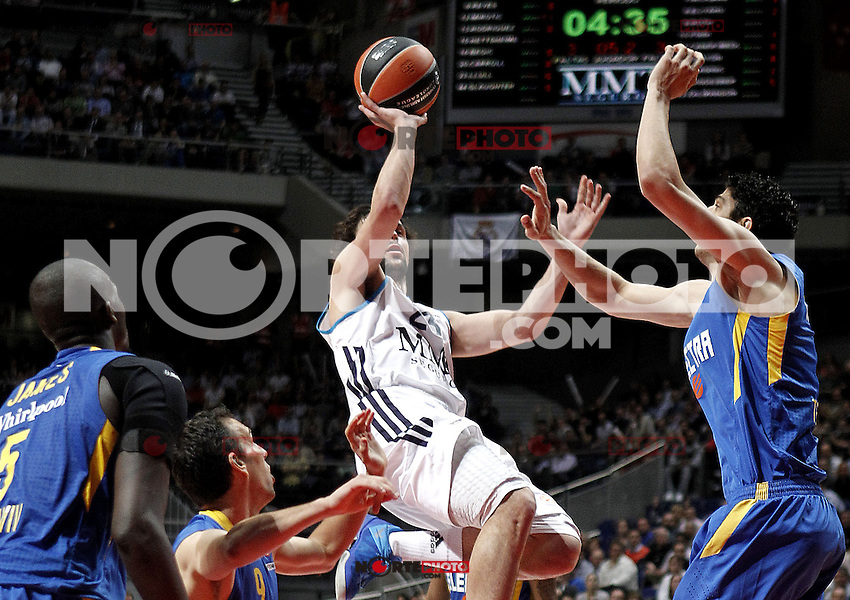 Real Madrid's Sergio Llull during Euroliga quarter final match. April 10,2013.(ALTERPHOTOS/Alconada) /NortePhoto