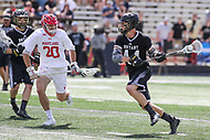 College Park, MD - May 14, 2017: Bryant Bulldogs Cam Ziegler (44) attempts a shot during the NCAA first round game between Bryant and Maryland at  Capital One Field at Maryland Stadium in College Park, MD.  (Photo by Elliott Brown/Media Images International)