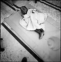 Luanda, Angola, May 20, 2006.Rosa Mateus, 3, is a patient at the Cacuaco MSF Belgium operated cholera field clinic. Between February and June 2006, more than 30000 people were infected with cholera in Angola's worse outbreak ever; more than 1300 died.