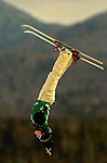 16 January 2005 - Lake Placid, New York, USA - Alla Tsuper representing Belarus, competes in the FIS World Cup Ladies' Aerial acrobatic competition, ranking 3rd for the day to win the Bronze Medal at the MacKenzie-Intervale Ski Jumping Complex, in Lake Placid, NY. ..Mandatory Credit: Ed Wolfstein Photo.