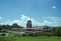 The Palace or Palacio at Palenque, Chiapas, Mexico