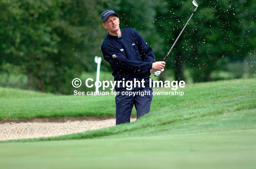 Steen Tinning, professional golfer, Denmark. Picture taken during practice for the Smurfit European Golf Champsionship at the K Club, Co Kildare, Rep of Ireland. Ref: 200207025675...Copyright Image from Victor Patterson, 54 Dorchester Park, Belfast, UK, BT9 6RJ..Tel: +44 28 9066 1296.Mob: +44 7802 353836.Voicemail +44 20 8816 7153.Skype: victorpattersonbelfast.Email: victorpatterson@mac.com.Email: victorpatterson@ireland.com (back-up)..IMPORTANT: If you wish to use this image or any other of my images please go to www.victorpatterson.com and click on the Terms & Conditions. Then contact me by email or phone with the reference number(s) of the image(s) concerned.