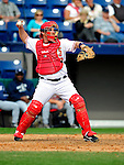 9 March 2010: Washington Nationals' catcher Derek Norris in action during a Spring Training game against the Detroit Tigers at Space Coast Stadium in Viera, Florida. The Tigers defeated the Nationals 9-4 in Grapefruit League action. Mandatory Credit: Ed Wolfstein Photo
