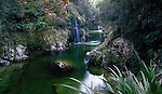 Small waterfall in Deepdale Creek near Murchison. Tasman Region. New Zealand.