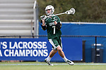DURHAM, NC - MARCH 11: Loyola's Pat Spencer. The Duke University Blue Devils hosted the Loyola University Maryland Greyhounds on March 11, 2017, at Koskinen Stadium in Durham, NC in a Division I College Men's Lacrosse match. Duke won the game 15-7.