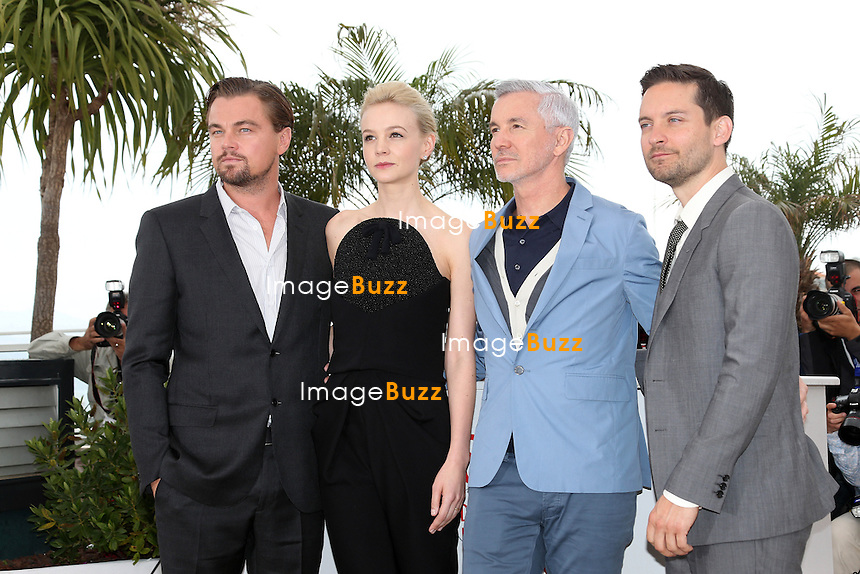 CPE/Tobey Maguire, Leonardo DiCaprio, Carey Mulligan and Baz Luhrmann attend 'The Great Gatsby' photocall during the 66th Annual Cannes Film Festival at the Palais des Festivals on May 15, 2013 in Cannes, France.