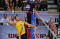 dos Santos Jr.Sidnei (BRA), DECEMBER 4,2011 - Volleyball : FIVB Men's Volleyball World Cup 2011,4th Round Tokyo(A) during match between Japan 0-3 Brazil at 1st Yoyogi Gymnasium, Tokyo, Japan. (Photo by Jun Tsukida/AFLO SPORT) [0003]