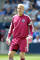 Kansas City goal keeper Jimmy Nielsen... Sporting Kansas City defeated San Jose Earthquakes 2-1 at LIVESTRONG Sporting Park, Kansas City, Kansas.