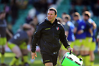 Departing Leicester Tigers Head Coach Aaron Mauger looks on during the pre-match warm-up. Aviva Premiership match, between Northampton Saints and Leicester Tigers on March 25, 2017 at Franklin's Gardens in Northampton, England. Photo by: Patrick Khachfe / JMP