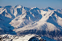 Snow covered mountains of the Brooks range in arctic, Alaska.