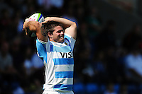 Gaspar Baldunciel of Argentina U20 looks to throw into a lineout. World Rugby U20 Championship 3th Place Play-Off between Argentina U20 and South Africa U20 on June 25, 2016 at the AJ Bell Stadium in Manchester, England. Photo by: Patrick Khachfe / Onside Images