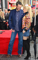 Gwen Stefani &amp; Blake Shelton at the Hollywood Walk of Fame Star Ceremony honoring singer Adam Levine. Los Angeles, USA 10 February  2017<br /> Picture: Paul Smith/Featureflash/SilverHub 0208 004 5359 sales@silverhubmedia.com