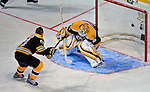 24 January 2009: Boston Bruins goaltender Tim Thomas is beaten by teammate Marc Savard in the Elimination Shootout of the NHL SuperSkills Competition, during the All-Star Weekend at the Bell Centre in Montreal, Quebec, Canada. ***** Editorial Sales Only ***** Mandatory Photo Credit: Ed Wolfstein Photo