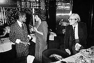 August 31st, 1977, Manhattan, New York City. Regine Davis in her restaurant, Le Reginette 69 East 59th Street. The restaurant was a hot spot for New York City night life, drawing celebrities like Sammy Davis, jr and Andy Warhol.