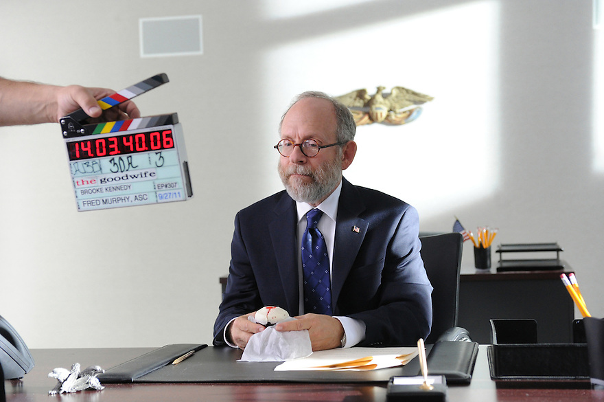 """Executive Order 13224""--Behind the scenes with guest star Bob Balaban of the CBS drama THE GOOD WIFE airing Sundays (9:00-10:00 PM, ET/PT) on the CBS Television Network. Photo: David M. Russell/CBS ??©2011 CBS Broadcasting, Inc. All Rights Reserved"