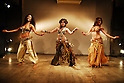 Members of U.S.-based international group Bellydance Superstars perform in Tokyo on Tuesday. The group will have its first Japan tour in Tokyo and Hyogo from May 16 to 19. 14 January, 2009. (Taro Fujimoto/JapanToday/Nippon News)