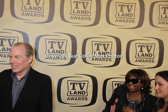 """Actor Michael McKeon and cast of Laverne & Shirley with Fan Favorie Award at the 10th Anniversary of the TV Land Awards on April 14, 2012 to honor shows """"Murphy Brown"""", """"Laverne & Shirley"""", """"Pee-Wee's Playhouse"""", """"In Loving Color"""" and """"One Day At A Time"""" and Aretha Franklin at the Lexington Armory, New York City, New York. (Photo by Sue Coflin/Max Photos)"""