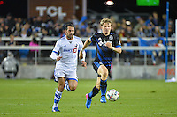 San Jose, CA - Saturday, March 04, 2017: Tommy Thompson during a Major League Soccer (MLS) match between the San Jose Earthquakes and the Montreal Impact at Avaya Stadium.
