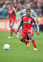 21 April 2012: Toronto FC forward Joao Plata #7 in action during a game between the Chicago Fire and Toronto FC at BMO Field in Toronto..The Chicago Fire won 3-2....