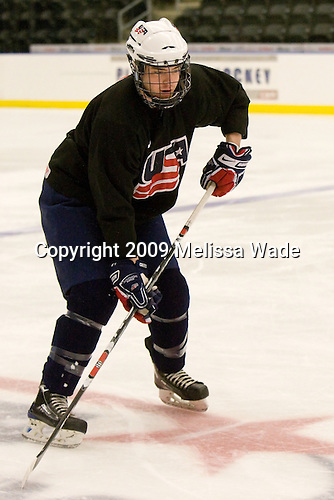 William Wrenn (US - 19) - The US practiced the morning of Sunday, April 19, 2009, prior to their gold medal game against Russia in the 2009 World Under 18 Championship at the Urban Plains Center in Fargo, North Dakota.